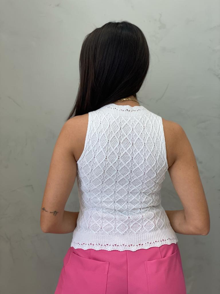 Blusa de Tricot losango off