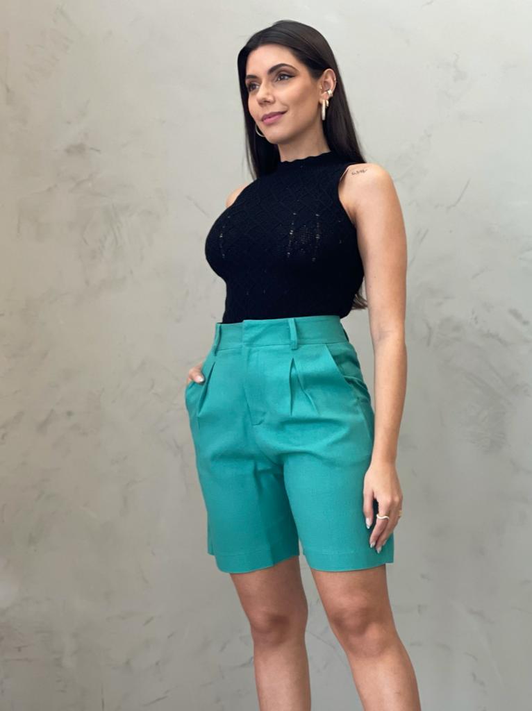 Blusa de Tricot losango preta