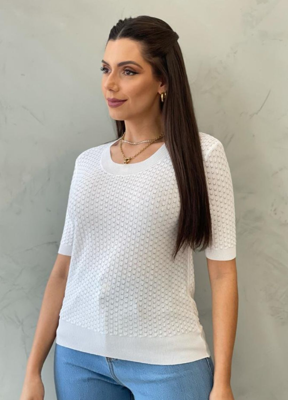 Blusa de Tricot MC branca