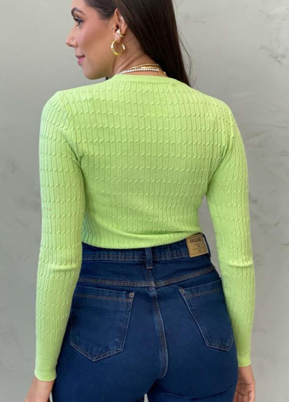 Blusa de tricot modal Verde