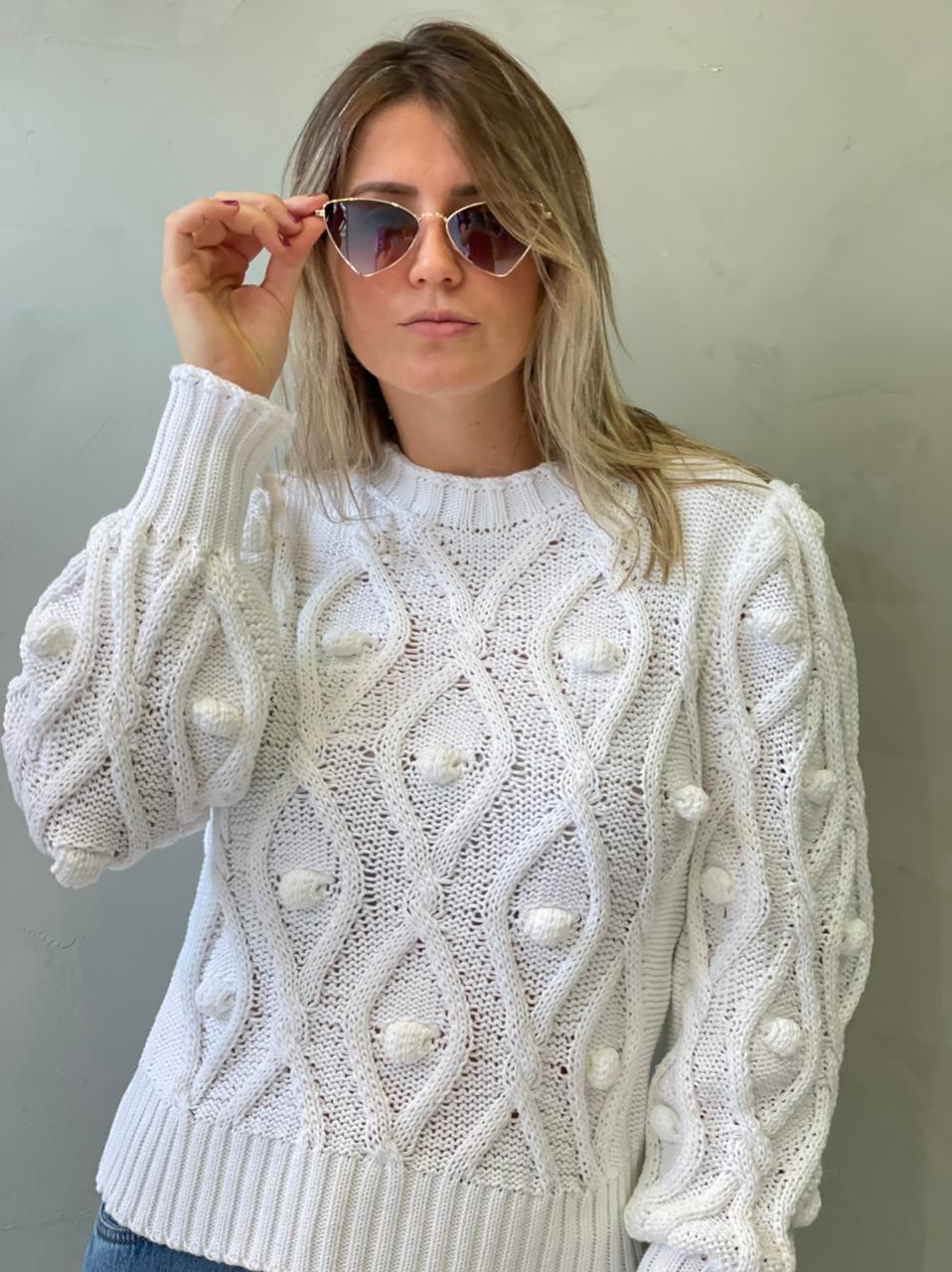 Blusa de tricot off