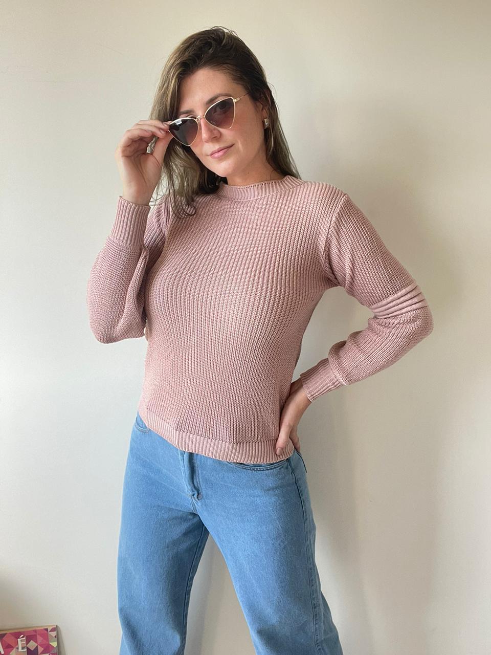 Blusa de tricot rose