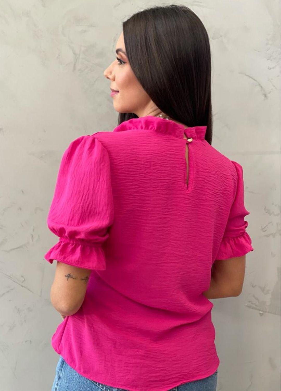 Blusa manga bufante verde pink