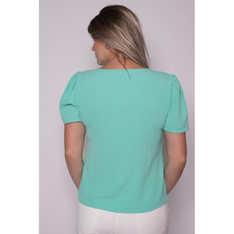 Blusa Manga Curta Verde