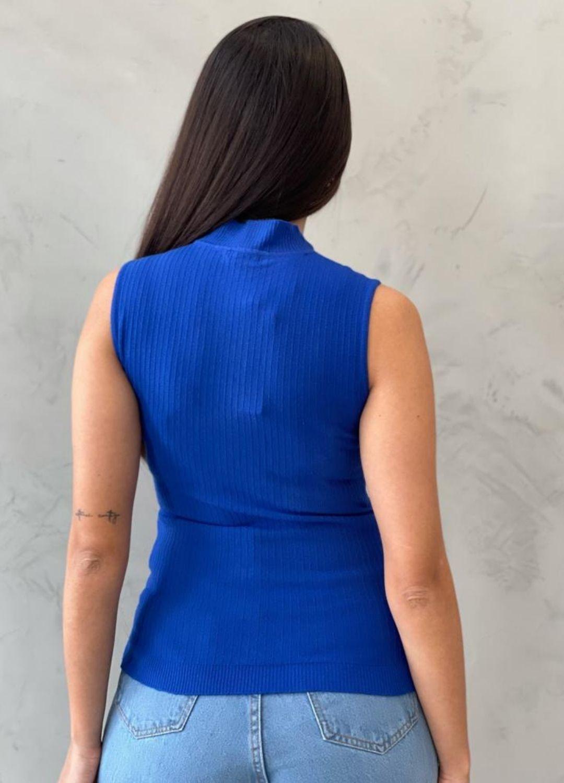 Blusa modal azul bic