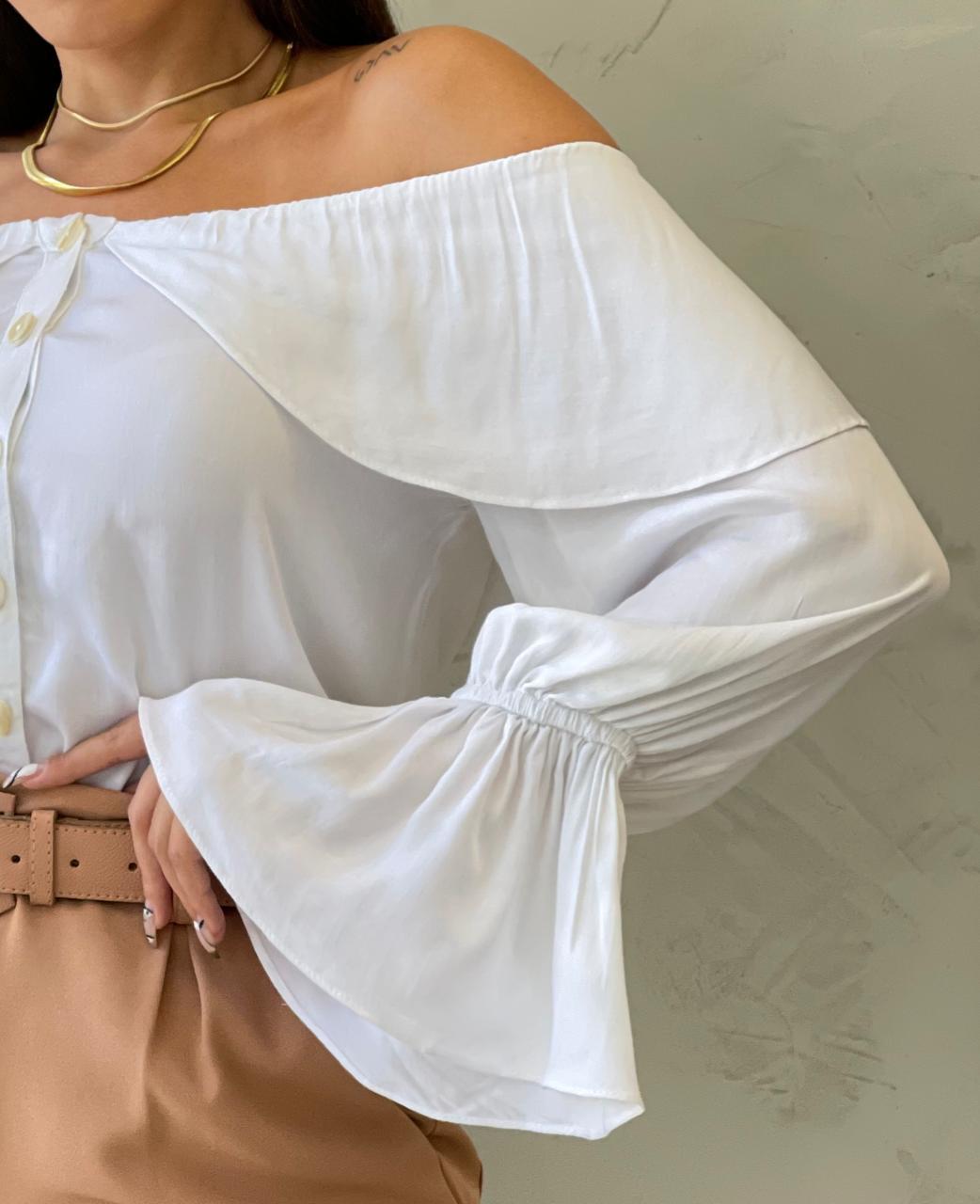Blusa ombro a ombro Branca