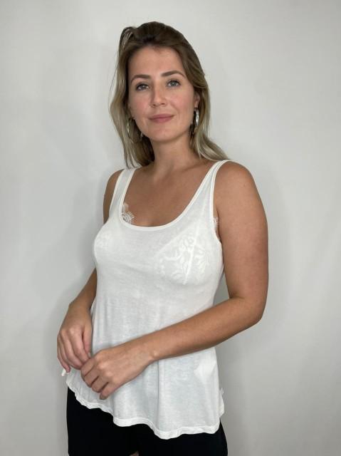 Blusa Regata Podrinha Branca