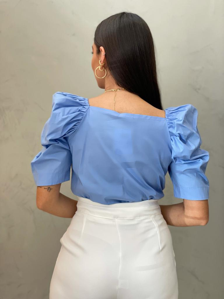 Body Azul Manga Bufante.