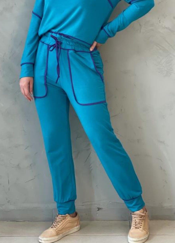 Calça de Moletinho Azul