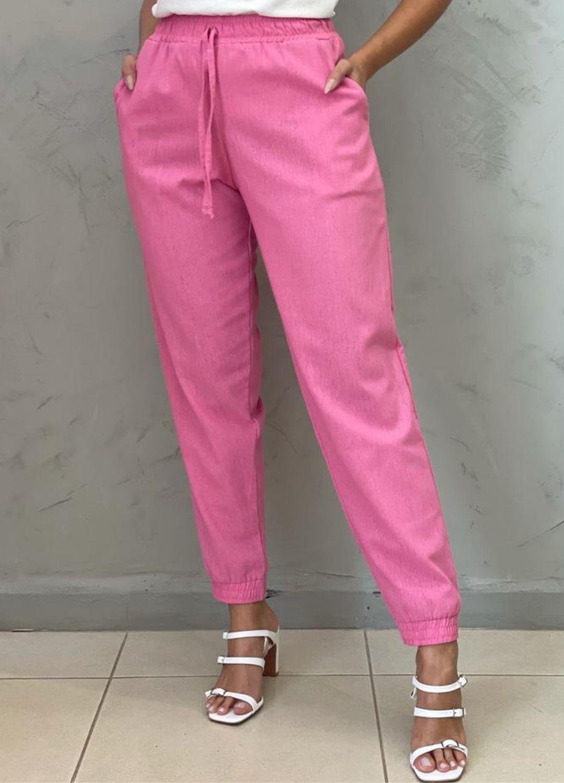 Calça Jogger Pink Linho