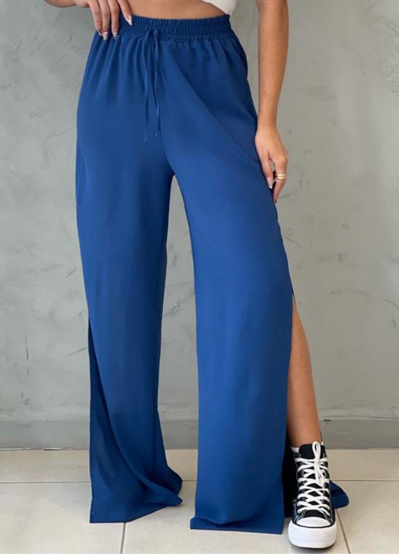 Calça Pantalona Azul Petróleo