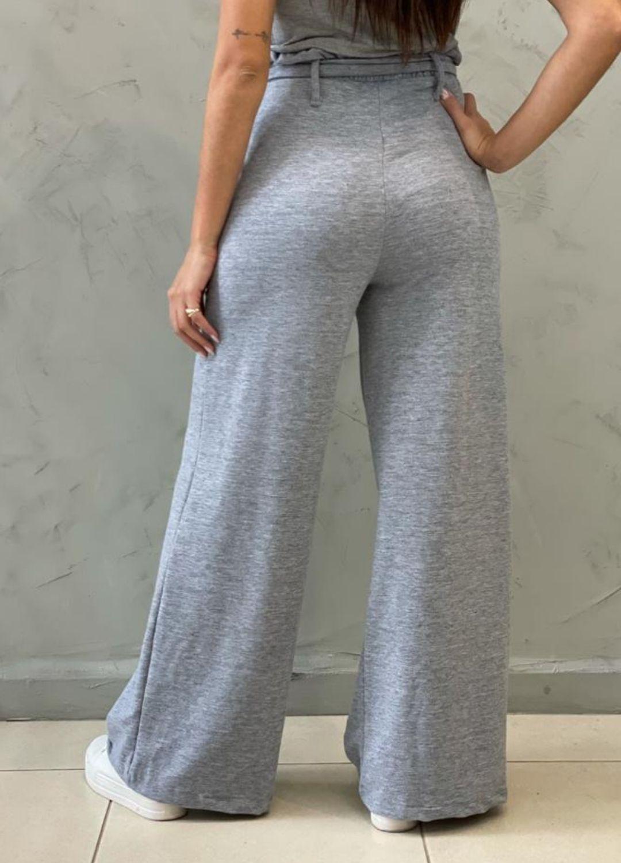 Calça Pantalona de malha Cinza