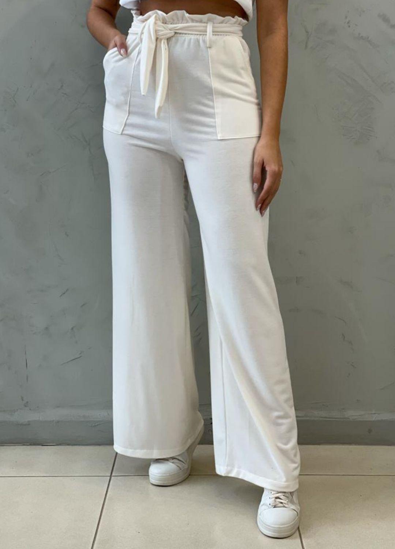 Calça Pantalona de malha Off White