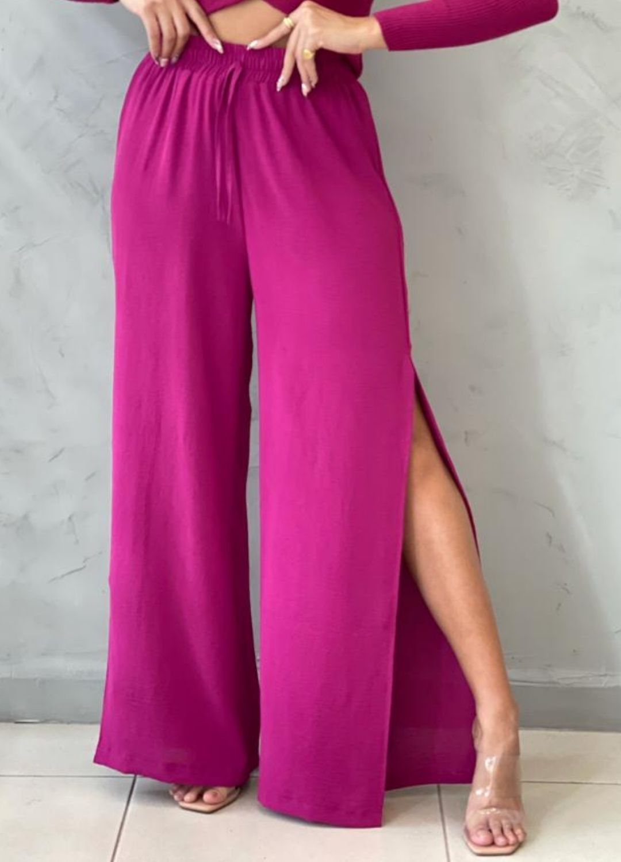 Calça Pantalona Fúcsia