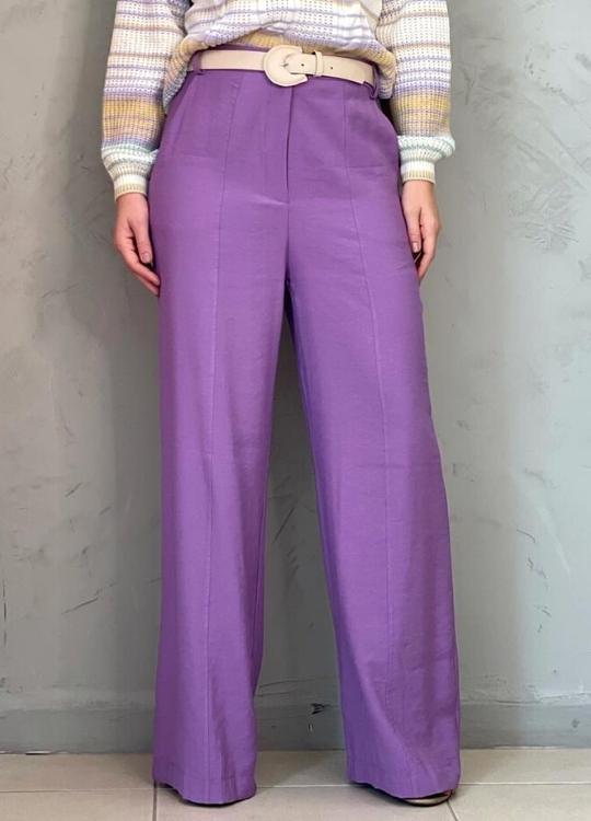 Calça Pantalona Lilás
