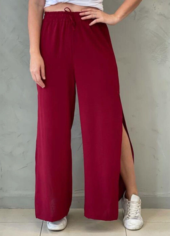 Calça Pantalona Marsala