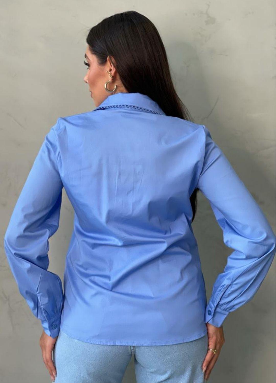 Camisa Azul em Algodão