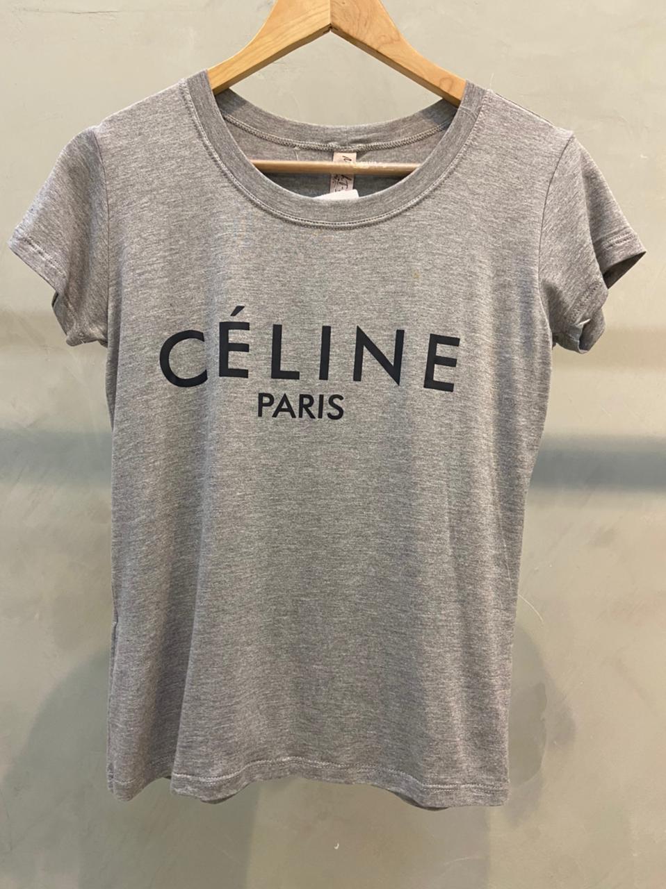 Camiseta Cinza Céline