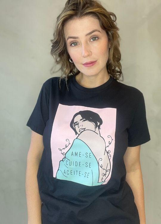 Camiseta de Algodão ame-se