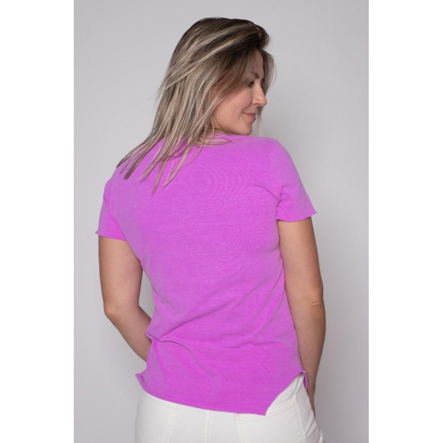 Camiseta de Algodão Create Yourself Roxa