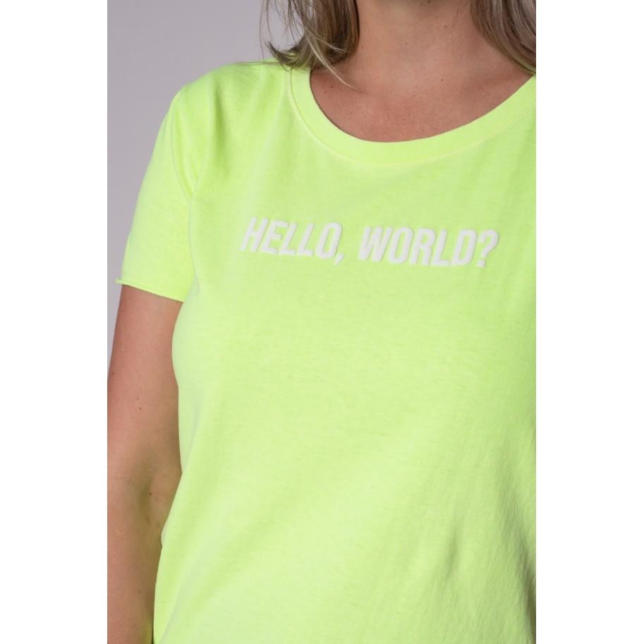 Camiseta de Algodão Hello, World?
