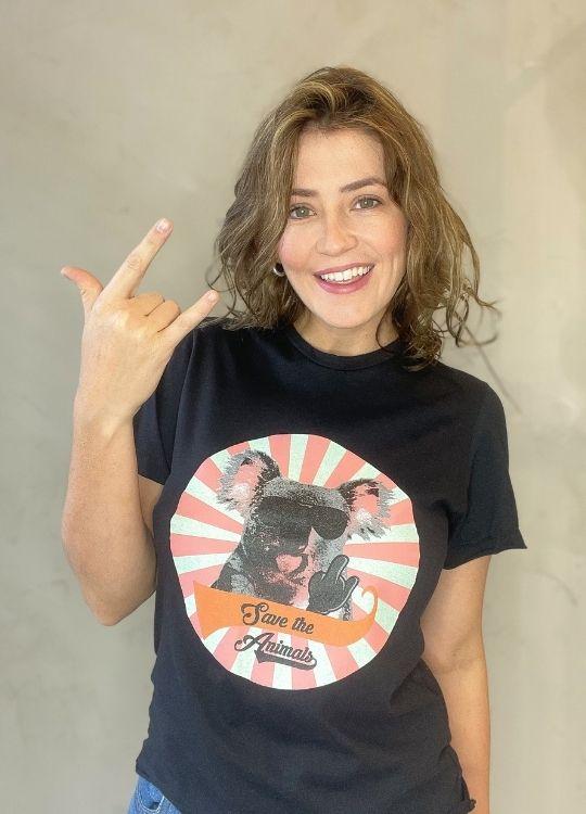 Camiseta de Algodão Koala