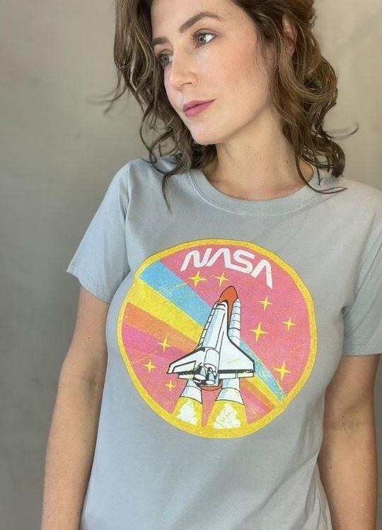 Camiseta de Algodão Nasa