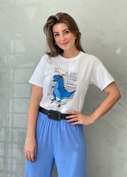 Camiseta de Algodão NEW YORK