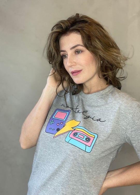 Camiseta de Algodão nostalgia