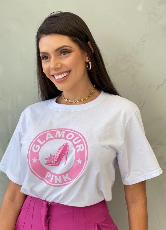 Camiseta de Algodão pink