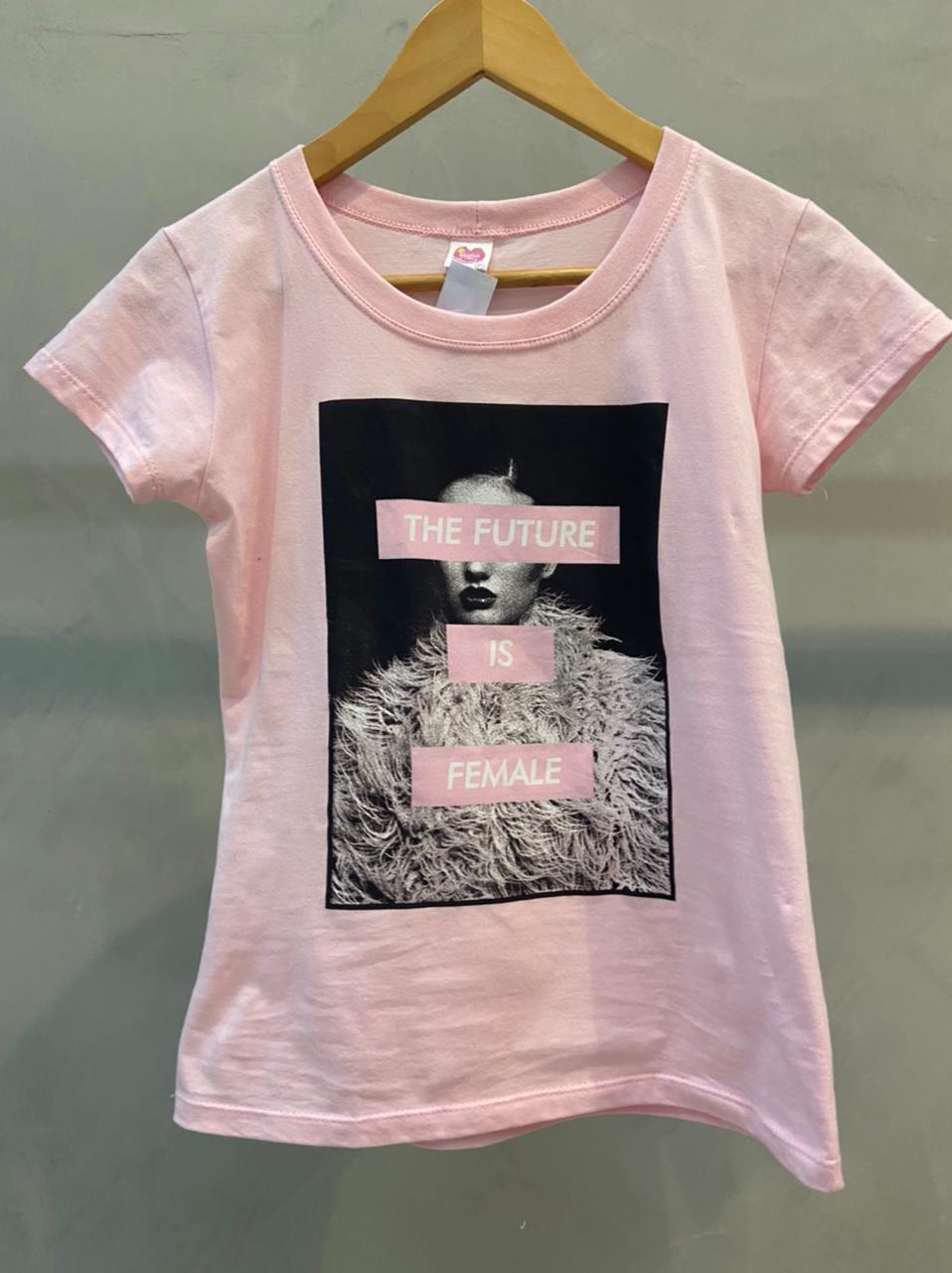 Camiseta de Algodão The Future is Female
