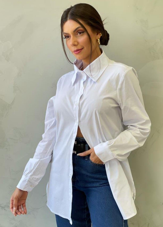 Camisa em Algodão Branca
