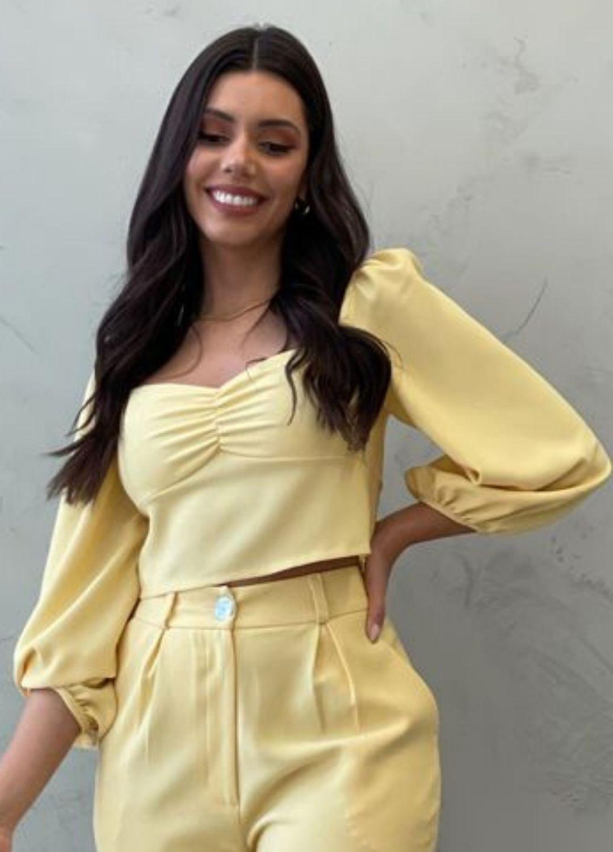 Cropped Amarelo BM