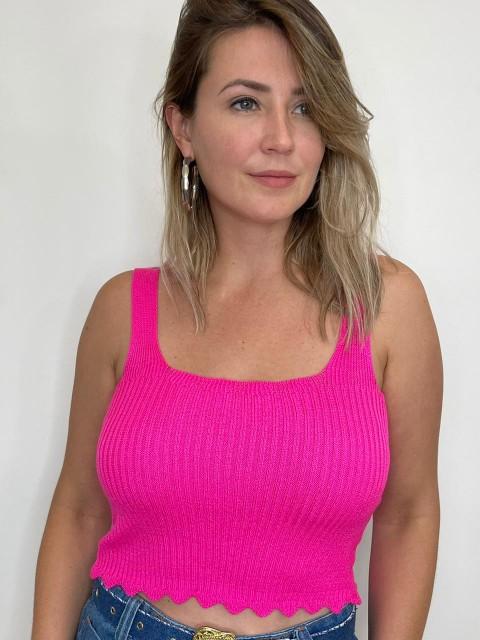 Cropped de tricot Florida Rosa