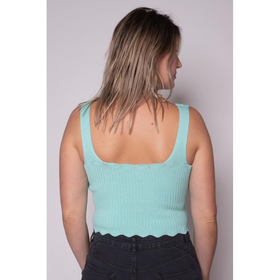 Cropped de tricot Florida Verde