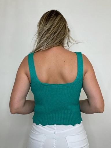Cropped de tricot Florida Verde Bandeira