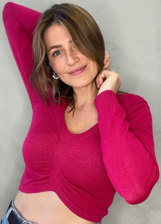 Cropped de tricot ML Rosa