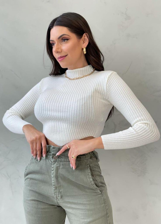 Cropped de tricot OFF