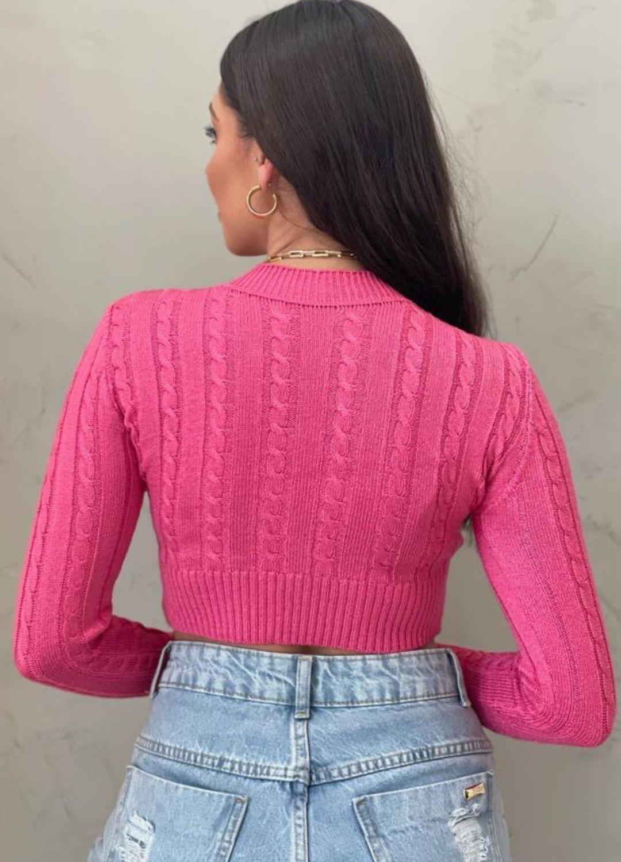 Cropped de tricot pink ml