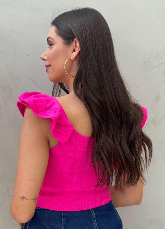 Cropped de Tricot Utah Rosa Pink