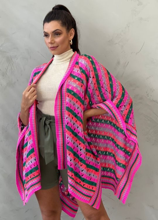 Poncho Tricot Colors