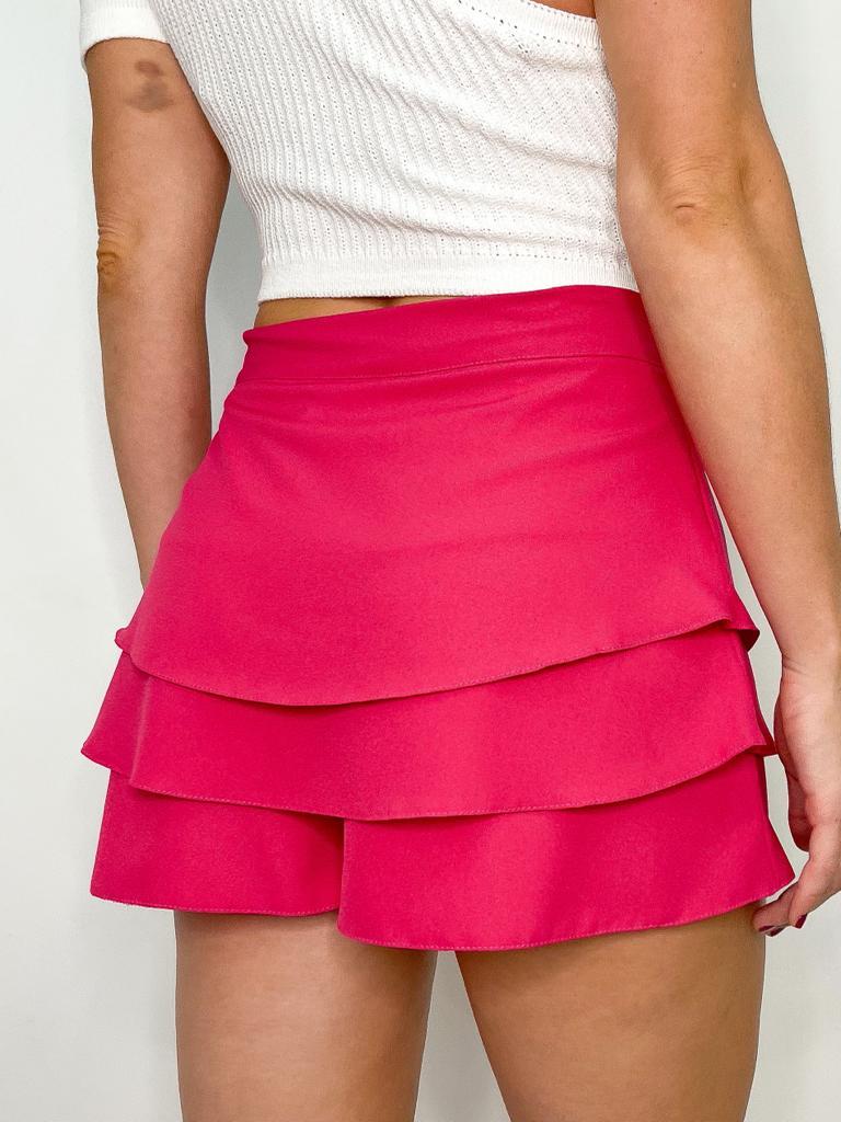 Short Pink em Crepe