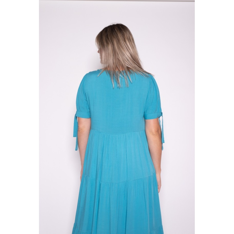 Vestido Amplo Azul