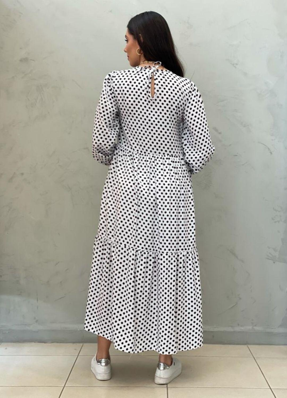 Vestido Amplo branco de poá