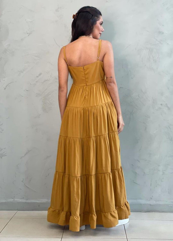Vestido Amplo Mostarda
