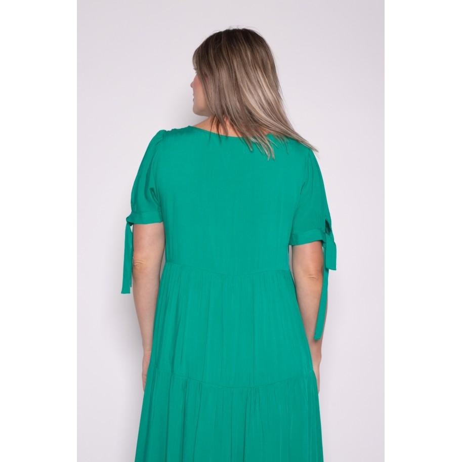 Vestido Amplo Verde Bandeira