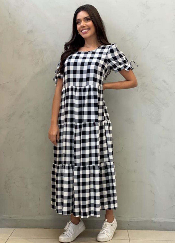 Vestido Amplo xadrez