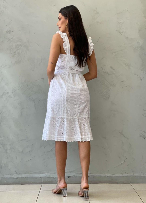 Vestido branco de laise