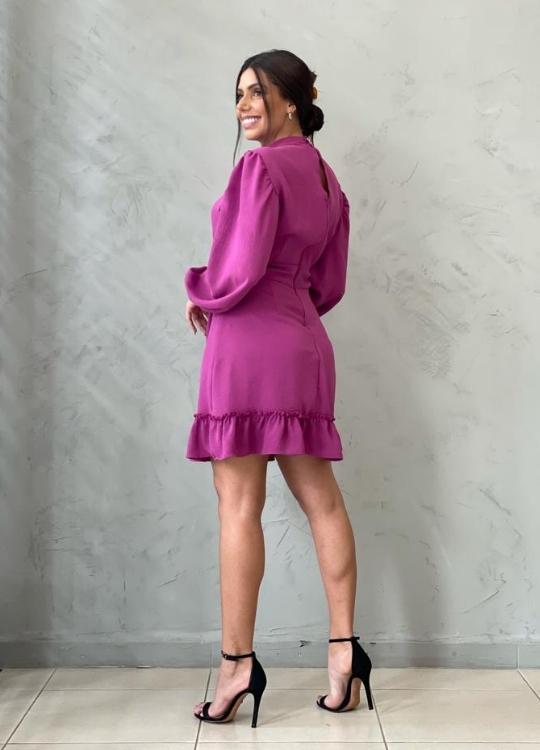 Vestido curto Roxo Uva