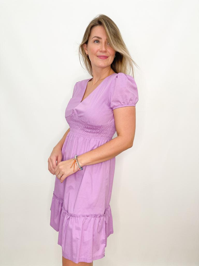 Vestido Lilás em Algodão